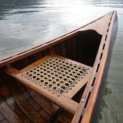 hand-woven cane seats – mahogany