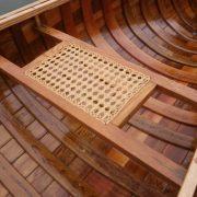 hand-woven cane seats – oak
