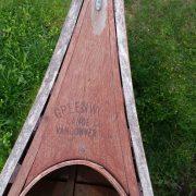 Greenwood canoe circa 1950 deck